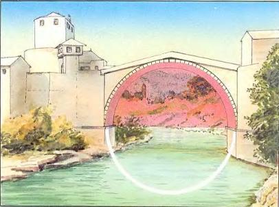 Полуциркульные своды римского моста в