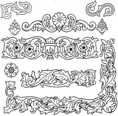Рис 6 4 варианты орнаментов