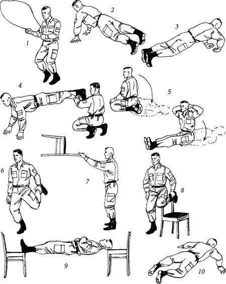 Схема упражнений с гирей