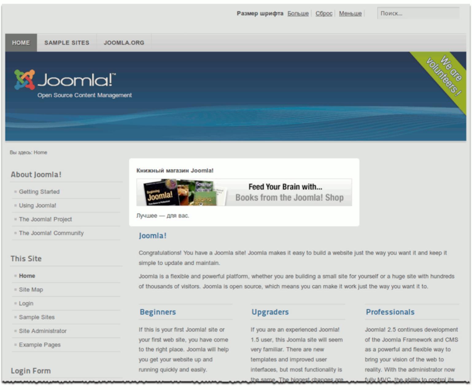 Книга по созданию сайта joomla продвижение сайта в интеренете