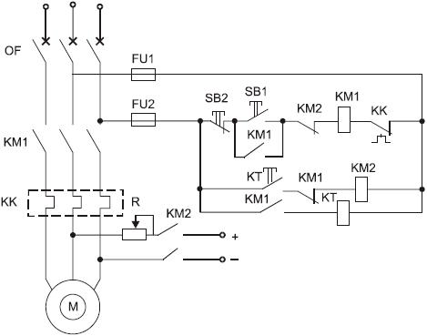 Схемы управления асинхронными электродвигателями с короткозамкнутым ротором