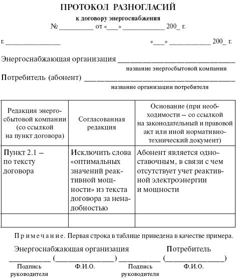 Образец Протокола Разногласий К Договору Аренды Нежилого Помещения - фото 3