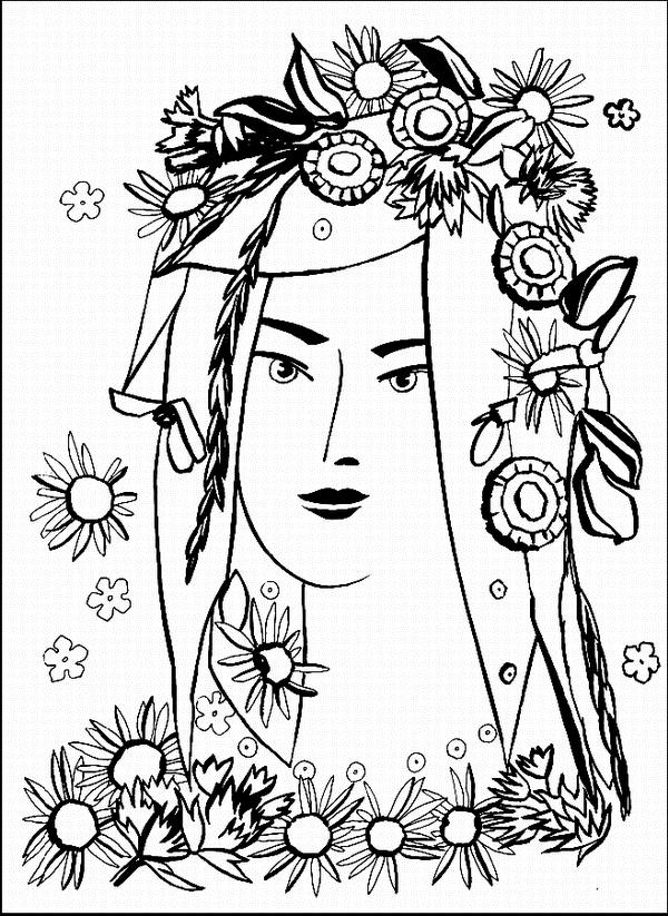 Нарисовать его помогут цветы и травы