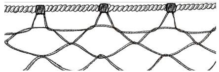 как посадить сеть для ловли рыбы