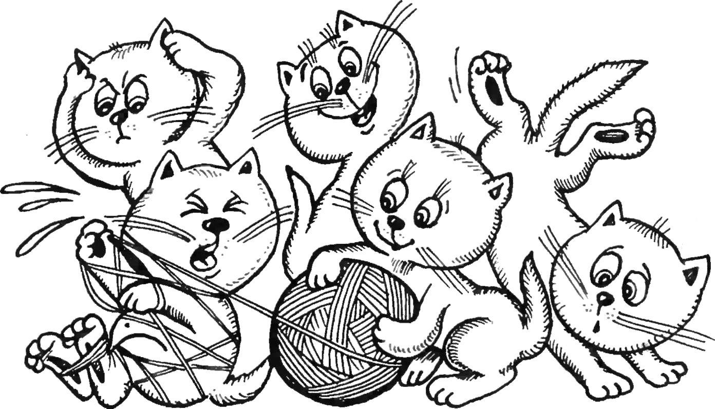 Рисунки кошек детей 5 лет, кошки