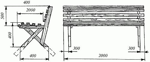 Скамейки для дачи своими руками чертежи