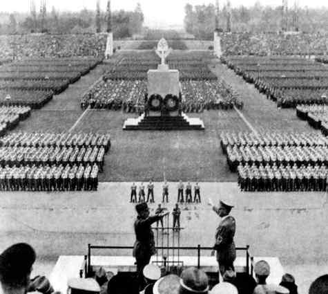 Парад в рамках съезда нсдап в