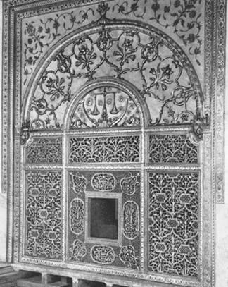 Интерьер дворца в красном форте тадж