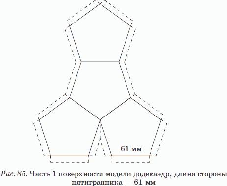 Объемная фигура из бумаги схема додекаэдр